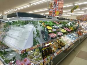 野菜・果物用セミ多段冷蔵ショーケース