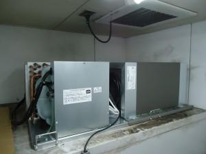 冷凍機天井置き型